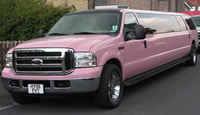ford excursion pink playboy limo hire
