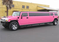 pink stretched limo hire