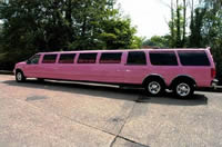 pink stretched limousine hire