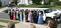 limotek school prom limousine hire