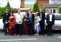 school prom limousine hire scotland