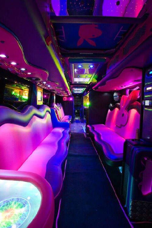 Party bus limo hire for Party bus with bathroom