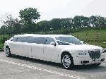 Chauffeur stretched white Chrysler C300 Baby Bentley with jet doors available in Brighton, Eastbourne, Hastings, Portsmouth, Crawley, Tunbridge Wells, Lewes, Worthing, Chichester, Bognor Regis, Horsham, East Grinstead, East Sussex and West Sussex.