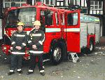 Chauffeur driven Fire Engine red limousine with real firemen for hire in London, Essex, Kent, Surrey Hampshire, Berkshire, Hertfordshire, Buckinghamshire, Suffolk, Norfolk, Cambridgeshire, Bedfordshire and East of England.