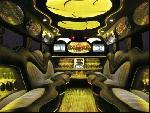 Chauffeur driven stretch yellow 8-wheeler triple axle H2 hummer limousine interior in Manchester, Liverpool, Cheshire, Chester, Stockport, North West, Blackburn, Preston, Bolton, Wigan, Lancashire.