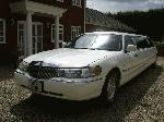 Chauffeur driven stretch white Lincoln Millenium Town Car limo 8 seater with TV, DVD and Mirror bar in East of England, Peterborough, Huntingdon, Stanford, King's Lynn, Norwich, Great Yarmouth, Lowestoft, Wisbech, Spalding, Cambridge, Cambridgeshire, Bedford, Bedfordshire, Newmarket, Bury St Edmunds, Suffolk, Norfolk, Lincolnshire, Northampton, Northamptonshire, Kettering, Leicester and Sudbury.