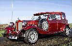 Chauffeur driven red Beauford wedding limo in Scotland, Glasgow, Dundee, Edinburgh, Lanarkshire, Motherwell, Paisley, East Kilbride, Kilmarnock, Coatbridge, Greenock, Hamilton and Perth.