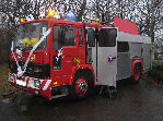 Red Fire Engine limousine hire in Portsmouth, Southampton, Bournemouth, Brighton, Poole, Hampshire, Sussex, Surrey, South Coast