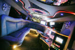 Chauffeur stretch Hummer limo hire interior in Birmingham, Coventry, Dudley, Wolverhampton, Telford, Worcester, Walsall, Stafford