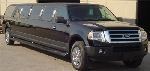 Chauffeur stretched black Jeep Expedition limousine hire in UK