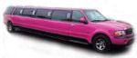 Chauffeur stretch pink Jeep Expedition limo hire in UK