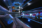 Chauffeur stretch Jeep Expedition limo hire interior in UK