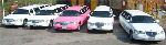 Chauffeur stretched fleet of white Lincoln limousine hire and pink Lincoln limo hire in UK