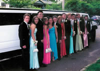 End Of School limousine hire