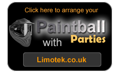 limousine hire with paintball parties